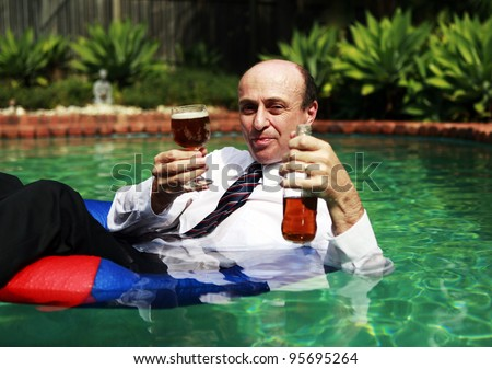 Stock Images Similar To Id 53622409 Thai Man Drinking Beer In The