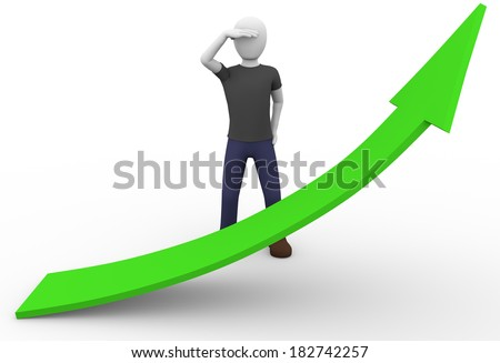 A business man is looking for revenues - stock photo