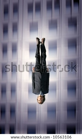 a business man suicide - stock photo