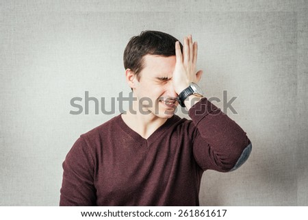 A businessman who made a mistake. - stock photo