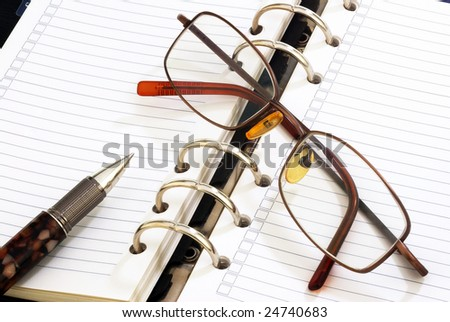 A bussiness planner set - stock photo