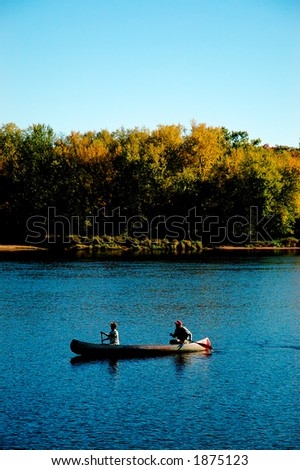 A canoe on Mississippi river. More with keyword group10a