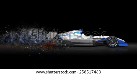 A  car with no brand name is designed and modelled by myself .Abstract 3d model - stock photo