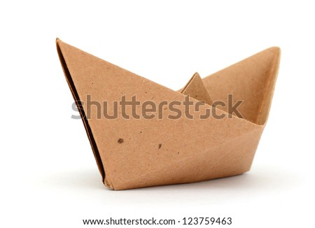 A cardboard paper boat - stock photo
