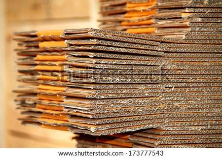 A cardboard texture - stock photo