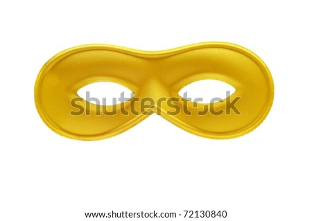 a carnival mask on a white background - stock photo