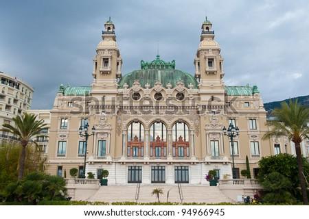A casino in Monte Carlo, Monaco - stock photo