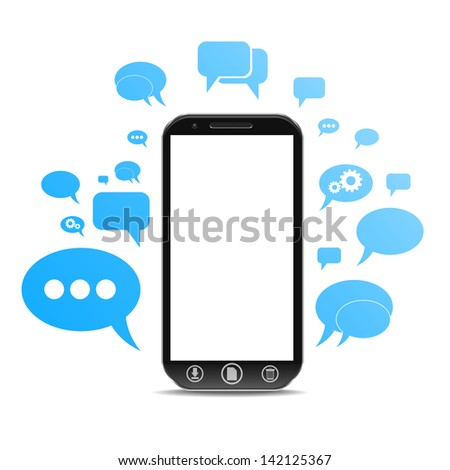a cellphone chat concept - stock photo