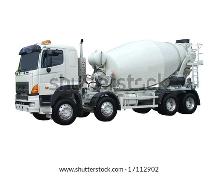 A Cement Delivery Lorry. - stock photo