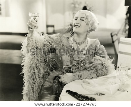 A champagne toast - stock photo