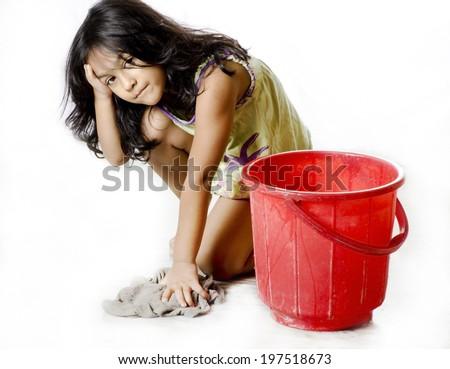 A child labour - stock photo