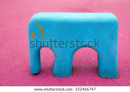 A children's playground. Playground equipment supplies / Safety rubber floor mats / Children playgrounds and outdoor recreations - stock photo