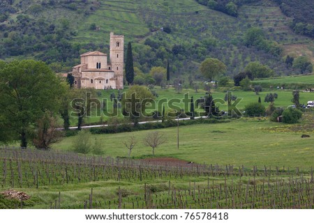 A church in Tuscany - stock photo
