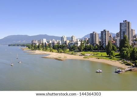 a city by a sea - stock photo