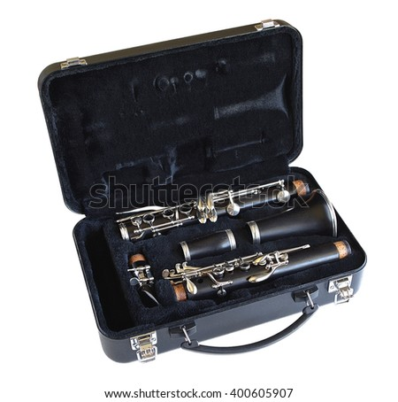 A clarinet in its case. - stock photo