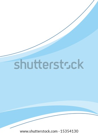 A clean, blue, corporate design template you can use in any type of piece from ads to page layouts. - stock photo