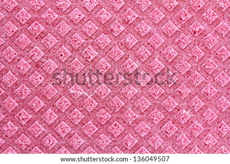 A clean texture of General Purpose Sponge Cloth in Pink Color - stock photo