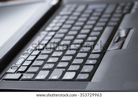 A close up of a keyboard - stock photo