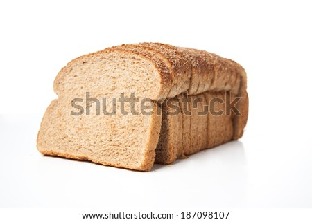 A close up of a loaf of bread. - stock photo