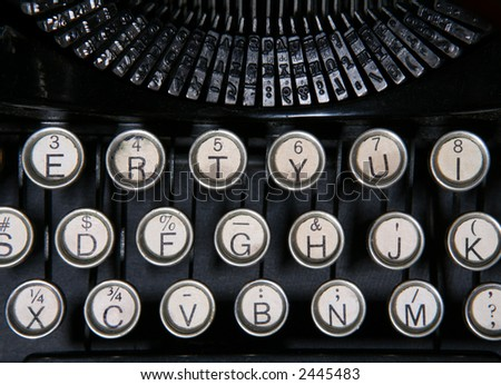 A close up of a vintage typewriter - stock photo