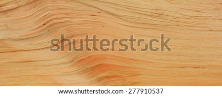 A close up of a wood grain texture pattern on split alder timber. - stock photo