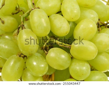 A close up of white grapes - stock photo