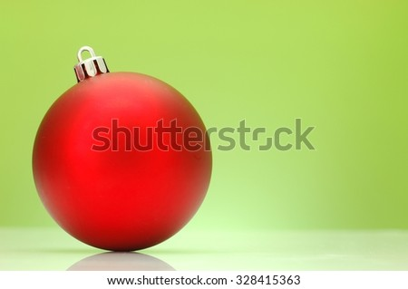 A close up photo of christmas decorations - stock photo