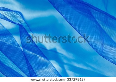 A close up photo of fabric clothing netting - stock photo