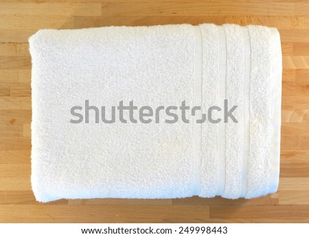 A close up shot of a bath towel - stock photo