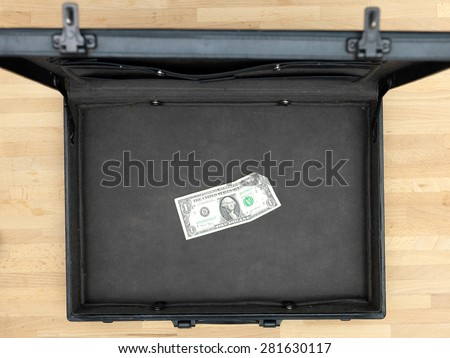 A close up shot of a business brief case - stock photo