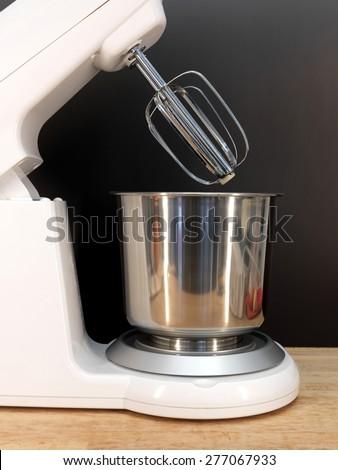 A close up shot of a food mixer - stock photo