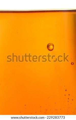 A close up shot of a honey bubble - stock photo