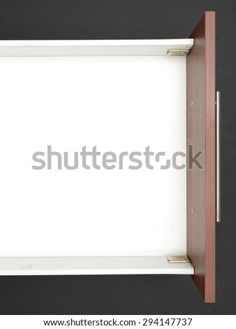 A close up shot of a kitchen drawer - stock photo