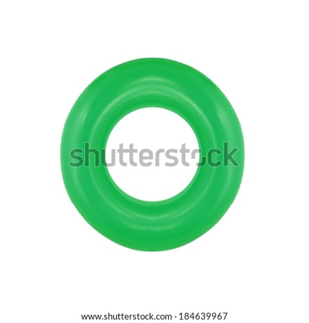 A close up shot of a pool tube - stock photo