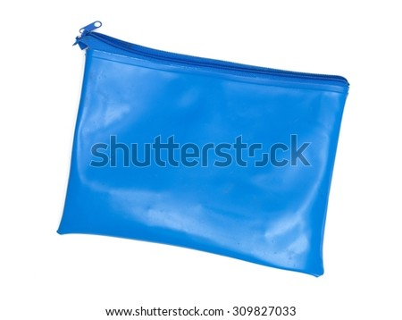 A close up shot of a school pencil case - stock photo