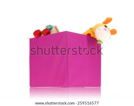 A close up shot of a toy storage box - stock photo