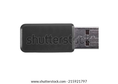 A close up shot of a USB stick - stock photo