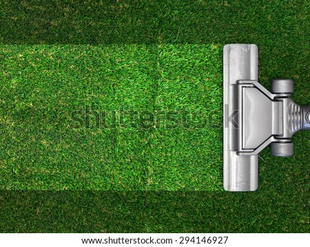A close up shot of a vacuum cleaner - stock photo