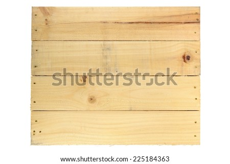 A close up shot of a wooden crate - stock photo