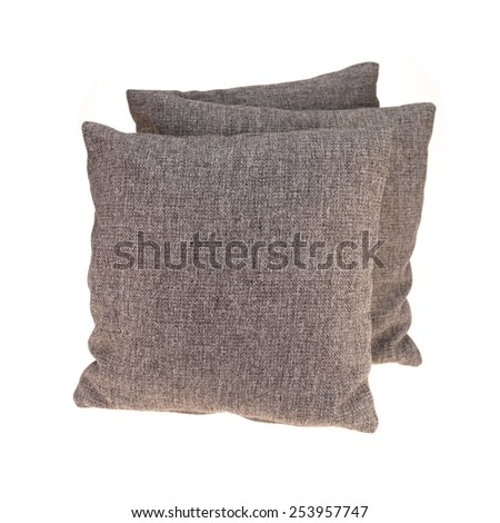 A close up shot of couch cushions - stock photo