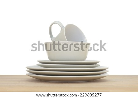 A close up shot of dinning tableware - stock photo