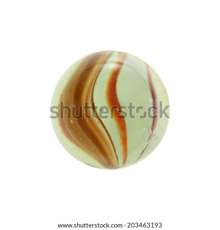 A close up shot of glass marbles - stock photo