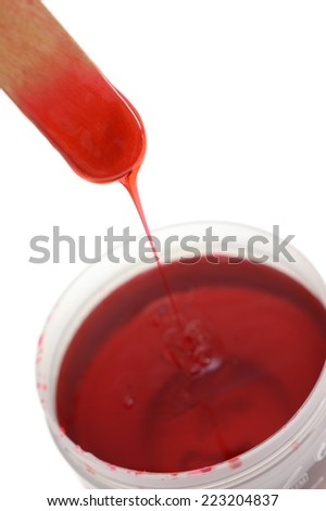 A close up shot of hair removal wax - stock photo