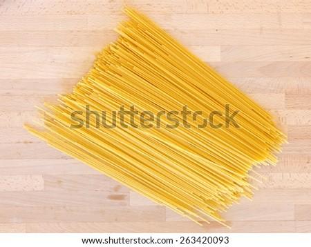 A close up shot of spaghetti pasta - stock photo
