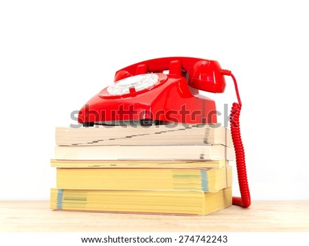 A close up shot of telephone books - stock photo
