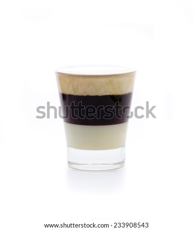 a cocktail compound, condensed milk, coffee and whiskey cream - stock photo