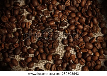 a coffee beans - stock photo