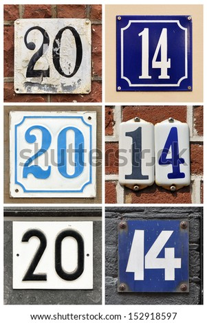A collage of number 2014 - stock photo