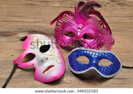 A collection of masks - stock photo