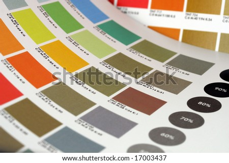 A color table for designers - stock photo
